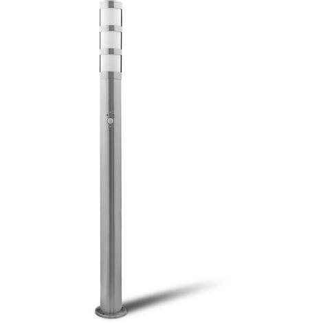 Grafner Edelstahl Wegleuchte mit Bewegungsmelder WL10201 Gartenlampe 110 cm Einzeln
