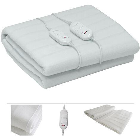Grafner® elektrisches Wärmeunterbett / Heizdecke aus Fleece 160x140cm XL Wärmedecke