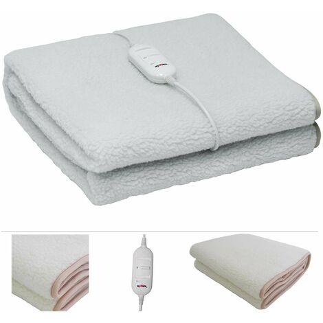 Grafner® elektrisches Wärmeunterbett / Heizdecke aus synthetischer Wolle 150x80cm Wärmedecke