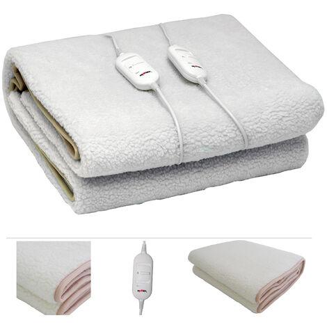 casa.pro ® Heizdecke 160x140cm Wärmedecke Wärmeunterbett elektrisch Heiz Decke