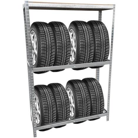 Grafner® Reifen Schwerlastregal 1,80m Werkstattregal 795kg Traglast Reifenregal für 8 Reifen