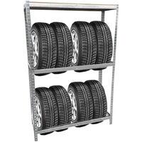 Grafner Reifen Schwerlastregal 1,80m Werkstattregal 795kg Traglast Reifenregal für 8 Reifen