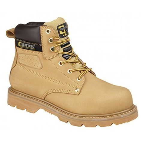 Grafters Gladiator SBP wheat nubuck safety boot with midsole size 12 or 13