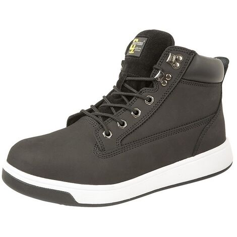 Grafters Mens Action Safety Trainer Boot (3 UK) (Black Multi)