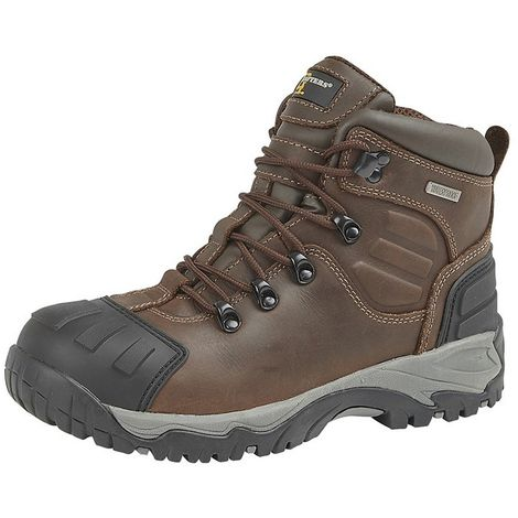 Grafters Mens Buffalo Leather Hiker Type Safety Boots