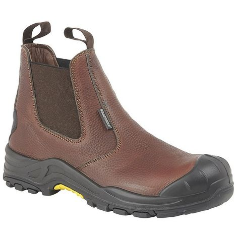 Grafters Mens Conker Tumbled Leather Safety Boot