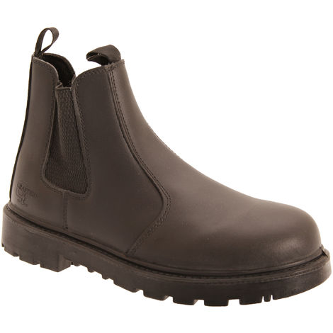 """main image of """"Grafters Mens Grinder Safety Twin Gusset Leather Dealer Boots"""""""