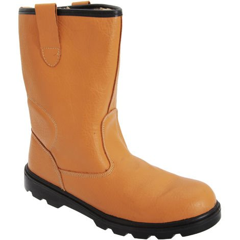 Grafters Mens Leather Safety Rigger Padded Ankle Toe Cap Boots