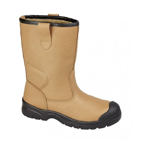 """main image of """"Grafters Mens Scuff Toe Cap Safety Leather Rigger Boots"""""""
