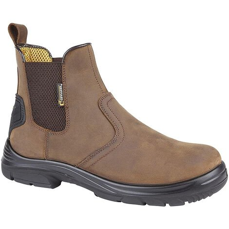 Grafters Mens Super Wide EEEE Fitting Pull On Safety Dealer Boots