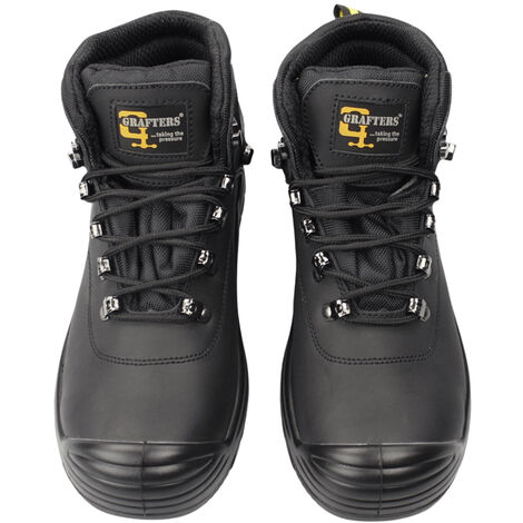 Grafters Mens Super Wide EEEE Fitting Safety Boots