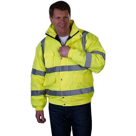 Grafters Unisex Hi-Visibility Waterproof Bomber Jacket