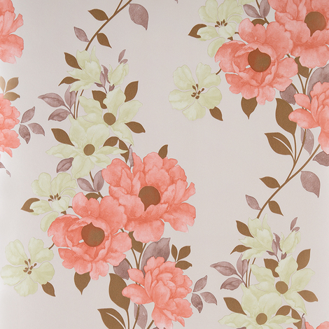 Graham And Brown Floral Duchessa Burnt Design Kitchen And Living