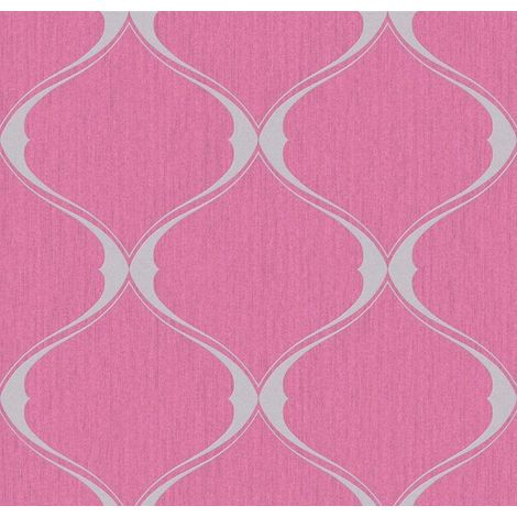 Graham and Brown Olympus Hot Pink Wallpaper