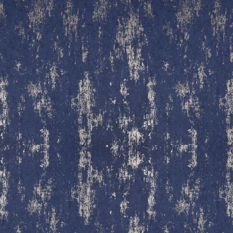 Image of Graham & Brown Distressed Texture Navy Rose Gold Modern Wallpaper