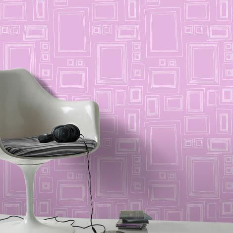 Graham & Brown Frames Print Pink/White Wallpaper (Was £25)