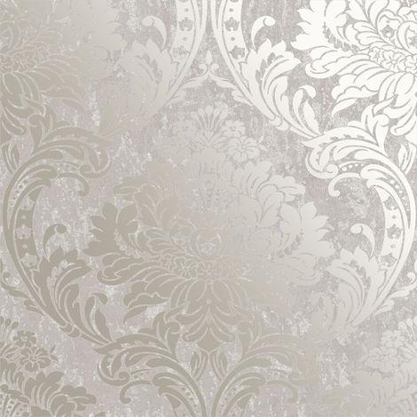Graham & Brown Wallpaper Milan Damask Taupe 106521