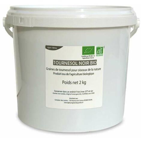 Graines de tournesol noir bio, oiseaux, rongeurs et animaux d'élevage