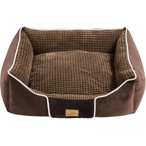 Grainy Extra Large Dog Beds Thick/Soft Pet Dog Nest Cushion Washable, Brown - different size available