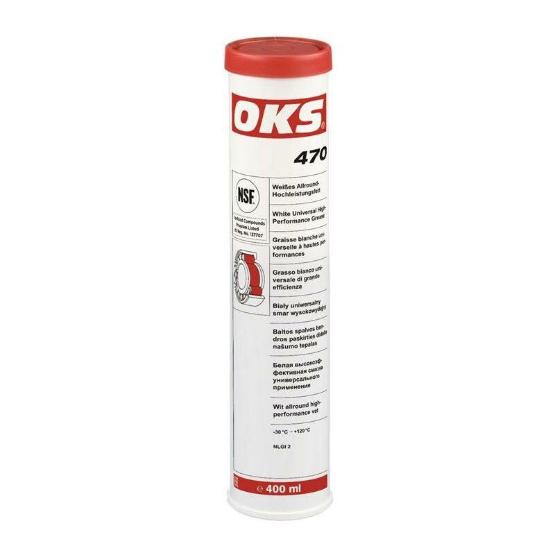 Oks ® - OKS Graisse universelle à hautes performance 470 blanc NSF H2 400 ml