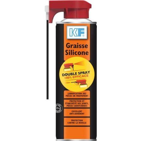 Graisse Silicone translucide aérosol Double Spray 400 ml net