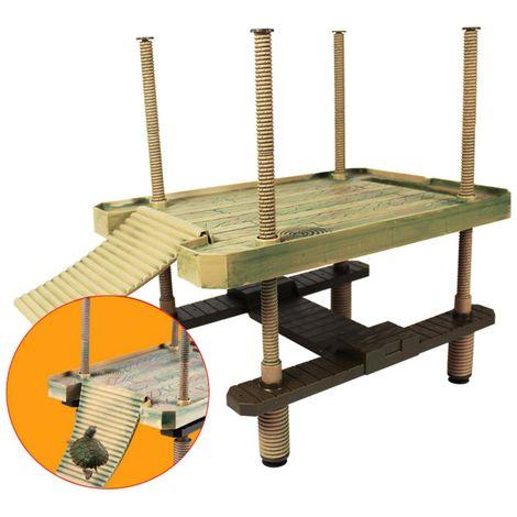 Gran plataforma flotante de tortuga reptil plataforma flotante rampa escalera