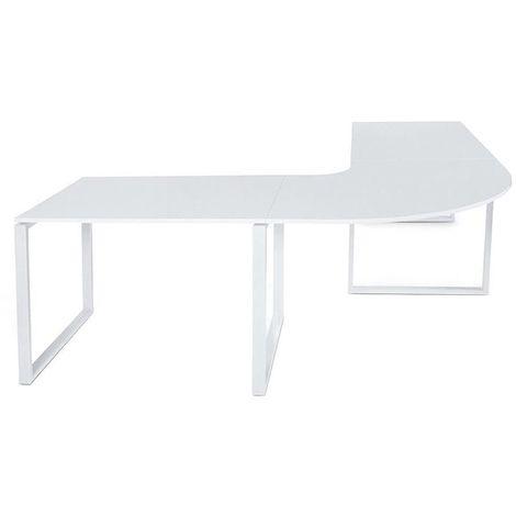 Grand bureau design Kuvo - Blanc