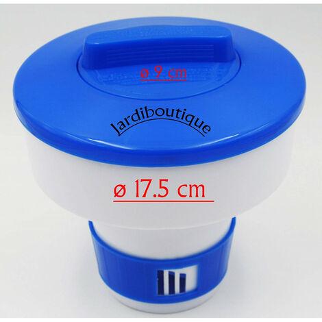 Grand doseur diffuseur de Chlore ou Brome Flottant en Plastique 17.5 CM pour Galet