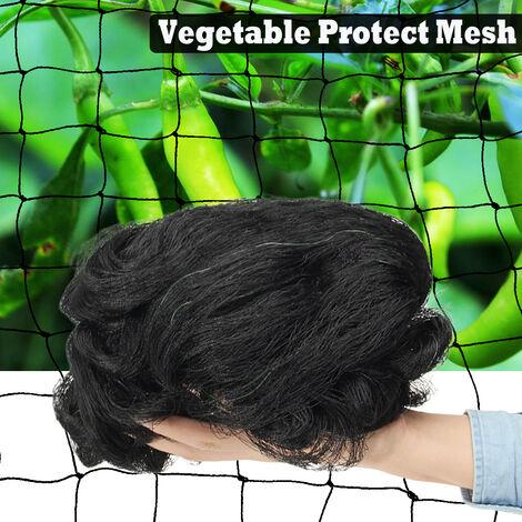 GRAND FILET DE JARDIN ANTI-OISEAUX Filet de jardinage en filet noir Protection végétale 3x15 mètres 3x15m