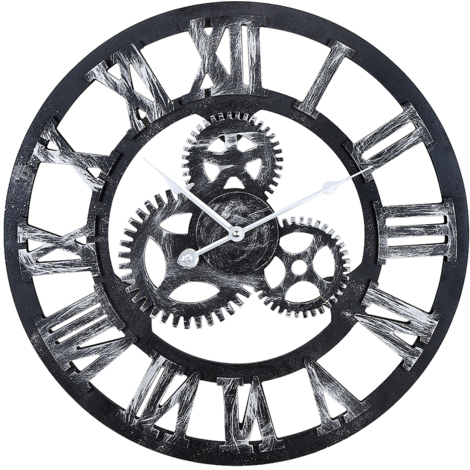 Grand Horloge Murale 3D Mécanique Home Decor Modern Design Horloge murale