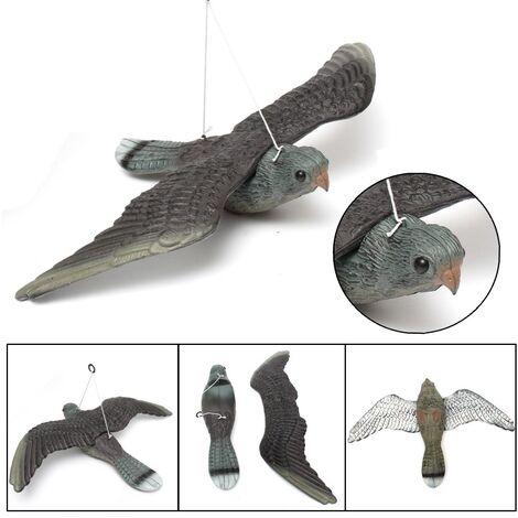 Grand jardin d'épouvantail d'effaroucheur de pigeon d'oiseau de leurre de faucon en plastique réaliste 1 pc