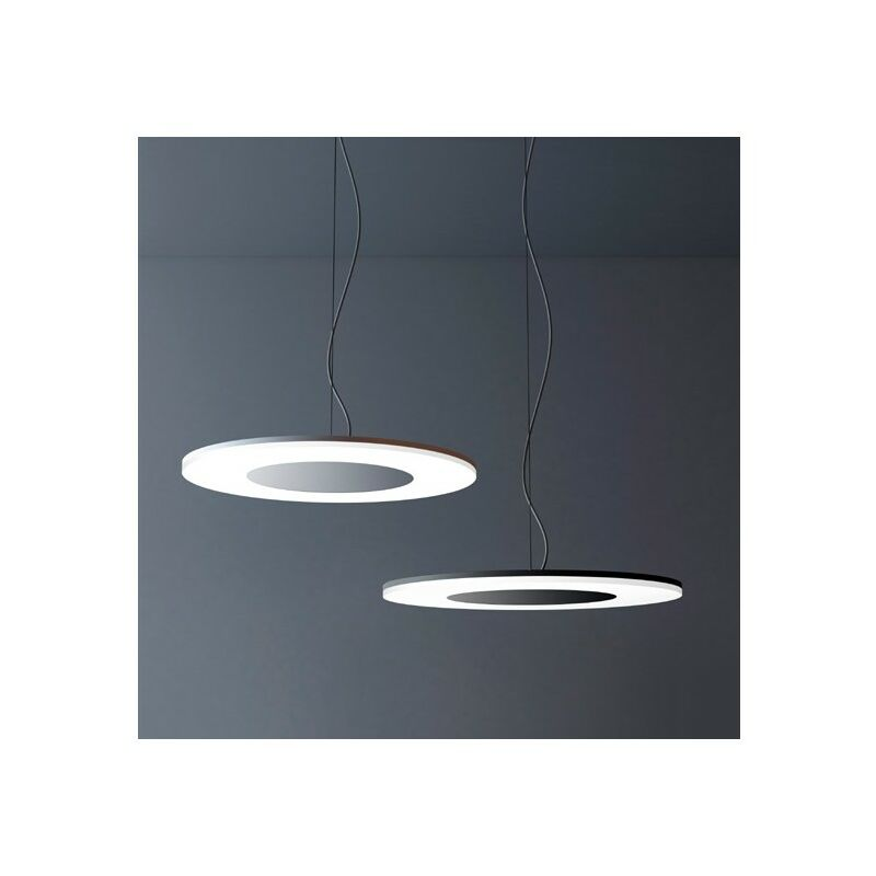 Blanc Grand Métal Circle Led Lustre En H9DE2I