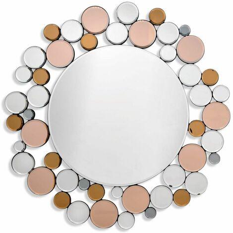Grand miroir décoratif mural moderne sur cm H79xL79xS2.5 Artedalmondo HM010A8080