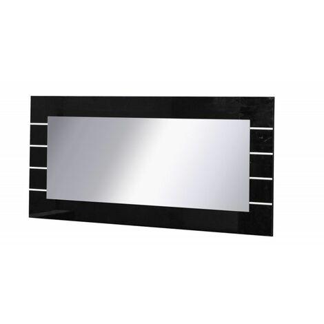 Grand miroir LINN NOIR . Accessoire idéal pour votre salon - Noir