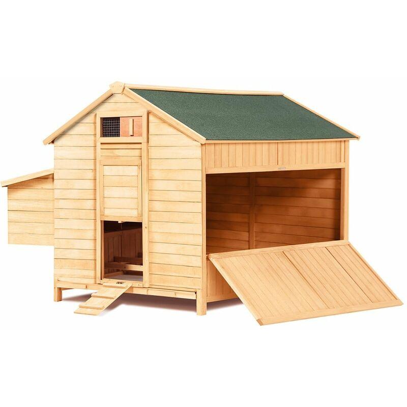 Grand poulailler en bois avec quadruple pondoir bois 150 - bois