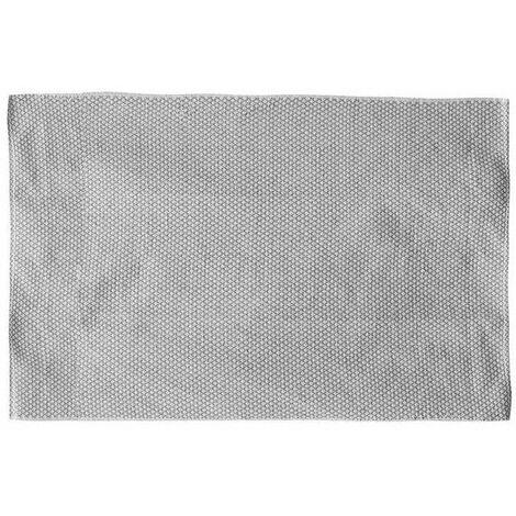 Grand tapis rectangulaire - 120 x 170 cm - Motifs losanges - Gris et blanc - Livraison gratuite