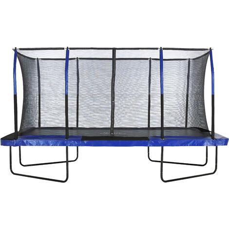 Grand Trampoline Rectangulaire Pro de Jardin d'Extérieur avec Filet de Sécurité | 427 x 244 cm