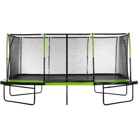 Grand Trampoline Rectangulaire Pro de Jardin d'Extérieur avec Filet de Sécurité