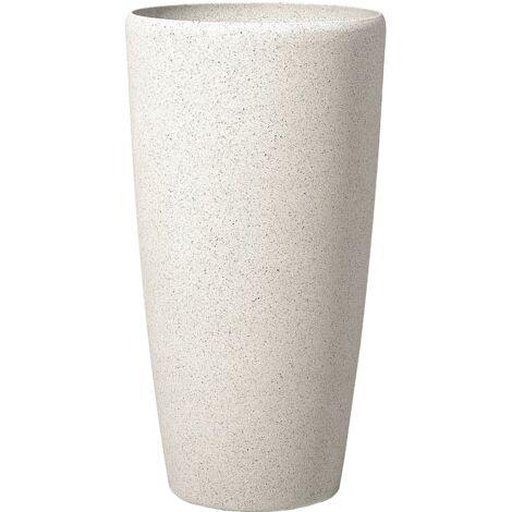 Grand vase blanc en forme ronde Abdera