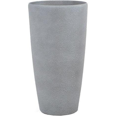 Grand vase gris en forme ronde ABDERA