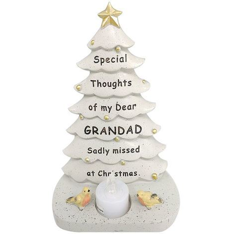 Grandad Xmas Tree With Flickering Light 14.5 x 19.5 x 9 cm