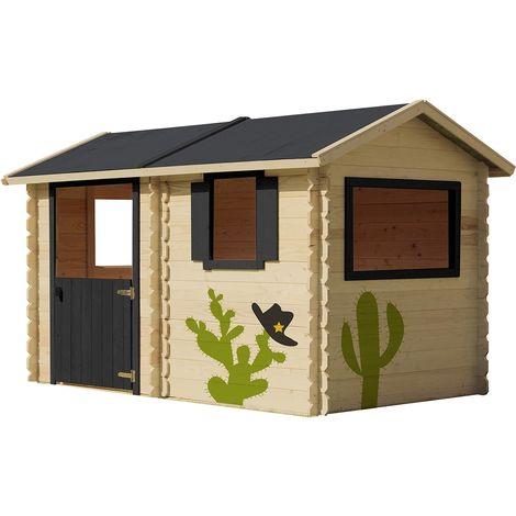 Grande cabane en bois traité pour enfant - Coline