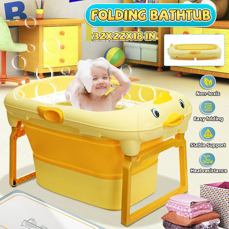 Grande capacité de trempage de baril de baignoire de baignoire pliante portative