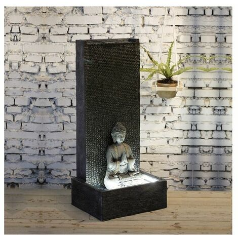 Grande fontaine XL Mur Bouddha - L 50 x l 30 x H 100 cm - Fibre de verre - Livraison gratuite