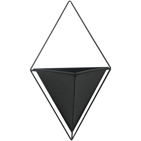 """main image of """"Piccola nero, diamanti semplice perforato vaso di fiori della parete libera"""""""