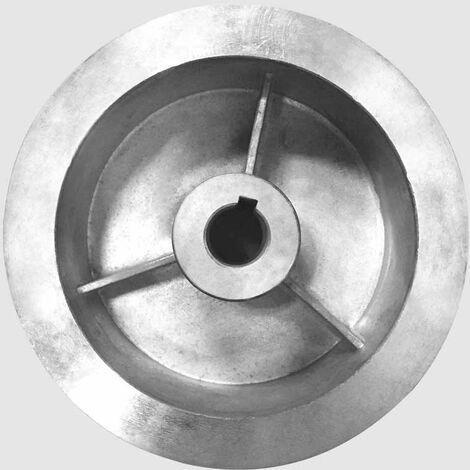 Grande poulie poly-v Dt 127mm Di: 21mm A:68mm (transmission) pour motoculteur 196CC-208CC