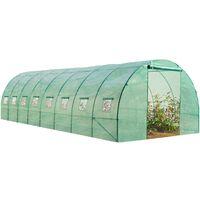 Grande serre de jardin tunnel maraîchère Pro galvanisée 24m² 8x3x2m