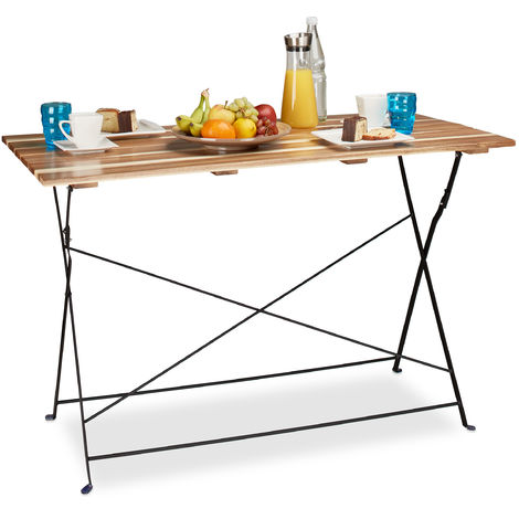 Grande table de jardin pliable HxlxP: 75 x 120 x 60 cm en ...