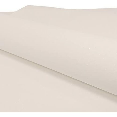 Grandeco Ideco Expressions Glitter Plain Sparkle Designer Free Match Wallpaper (WHITE BXB-035-01-9)
