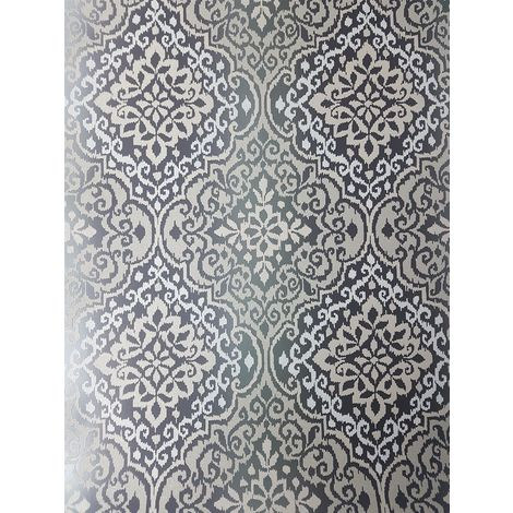 Grandeco Life Delphi Black Glitter Wallpaper
